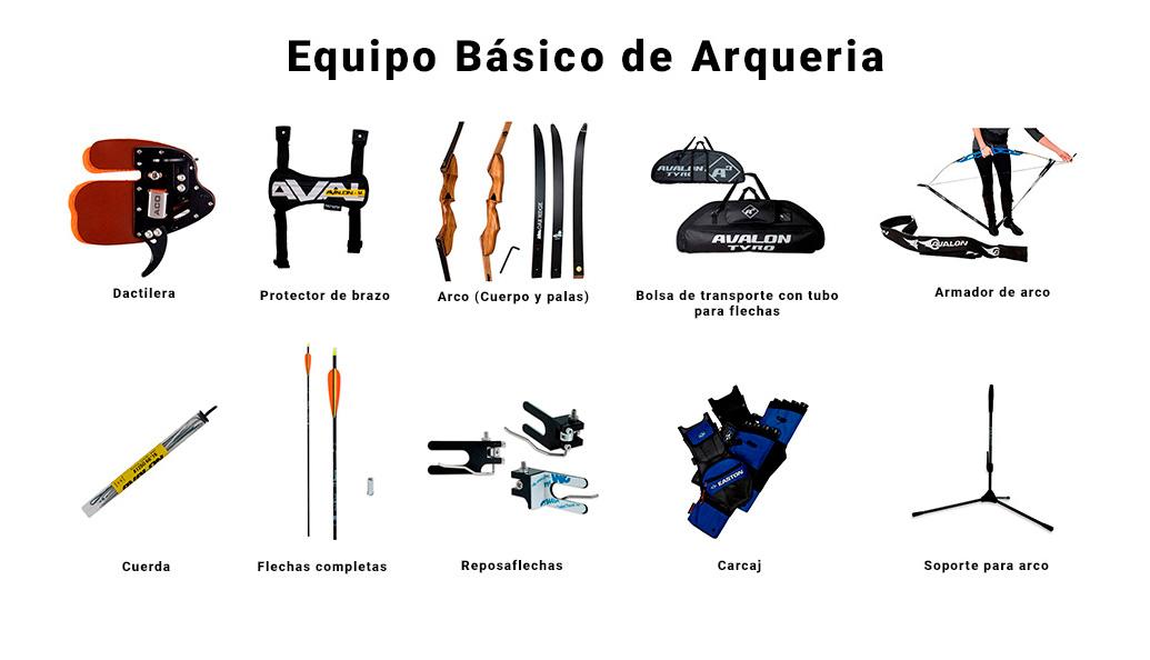 Equipo básico de arquería