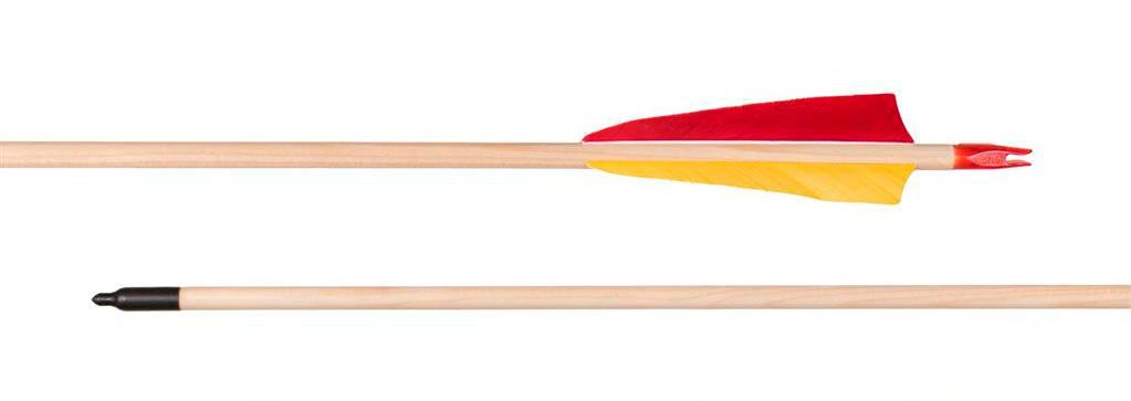 Flecha completa de madera o vástago